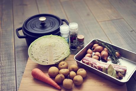 ポトフの材料と鍋の写真素材 [FYI02061582]