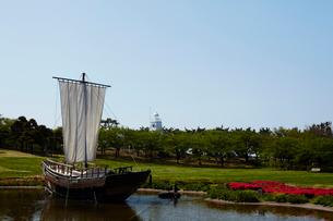 日和山公園の千石船 山形県の写真素材 [FYI02061804]