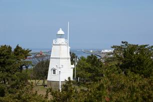日和山公園の木造六角灯台 山形県の写真素材 [FYI02062779]