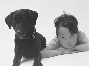 女の子と犬の写真素材 [FYI02062889]