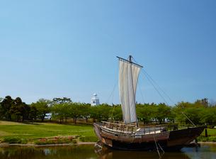 日和山公園の千石船 山形県の写真素材 [FYI02062932]
