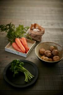 オーガニック野菜集合の写真素材 [FYI02062944]