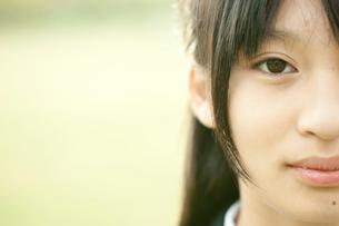 女子中学生の目元アップの写真素材 [FYI02063331]