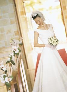 ウェディングドレスの女性の写真素材 [FYI02063384]