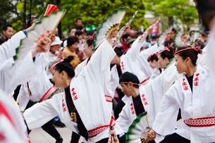 青葉まつりのすずめ踊り 宮城県の写真素材 [FYI02063827]