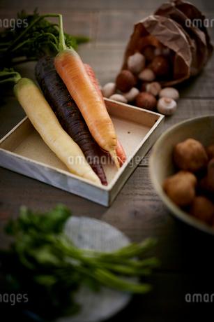 オーガニック野菜集合の写真素材 [FYI02063878]
