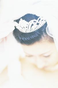 ウェディングドレスの女性アップの写真素材 [FYI02064512]