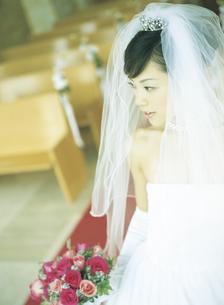 ウェディングドレスの女性の写真素材 [FYI02064531]
