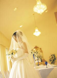 ウェディングドレスの女性の写真素材 [FYI02065239]
