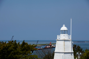 日和山公園の木造六角灯台 山形県の写真素材 [FYI02065268]