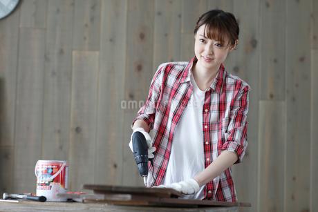 DIYを楽しむ女性の写真素材 [FYI02065651]