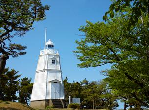 日和山公園の木造六角灯台 山形県の写真素材 [FYI02065693]