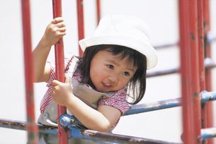 ジャングルジムの女の子の写真素材 [FYI02066079]