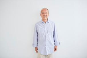 シニア男性のポートレートの写真素材 [FYI02066091]