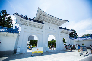 中正紀念堂の大孝門 台湾の写真素材 [FYI02066408]