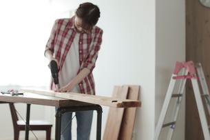 DIYを楽しむ女性の写真素材 [FYI02066649]