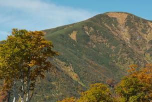 湯殿山の秋景 山形県の写真素材 [FYI02066833]