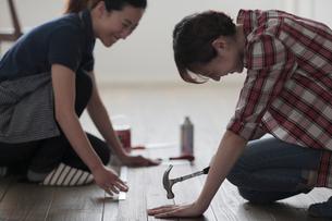 DIYを楽しむ女性2名の写真素材 [FYI02068272]