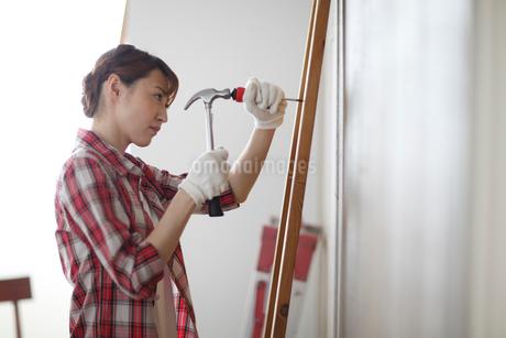 DIYを楽しむ女性の写真素材 [FYI02070690]