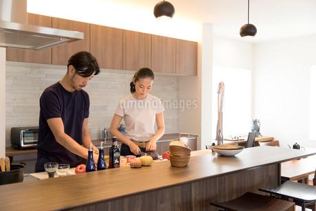 料理をする夫婦の写真素材 [FYI02071023]