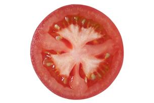 中玉トマト断面の写真素材 [FYI02072141]