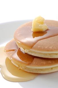 ホットケーキとハチミツの写真素材 [FYI02073016]