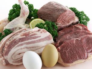肉類と卵の写真素材 [FYI02074289]