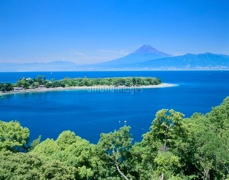 沼津市大瀬からの駿河湾と富士山の写真素材 [FYI02074927]