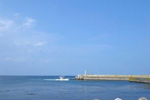 川汲漁港の写真素材 [FYI02075571]