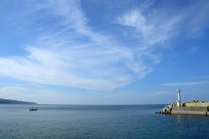川汲漁港の写真素材 [FYI02075708]