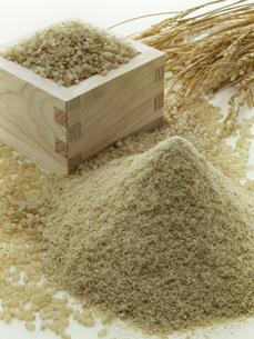 米糠と玄米の写真素材 [FYI02075731]
