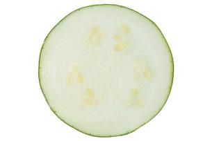 丸ズッキーニ断面の写真素材 [FYI02076068]