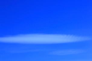 レンズ雲と青空の写真素材 [FYI02076835]