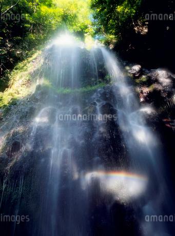 八岳の滝と虹の写真素材 [FYI02076852]