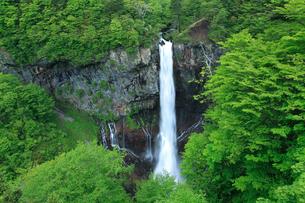 華厳の滝と新緑の写真素材 [FYI02077117]