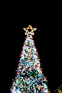 クリスマスツリーのイルミネーションの写真素材 [FYI02077237]