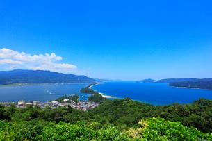 夏の天橋立と宮津湾の写真素材 [FYI02077449]
