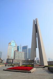 外灘 黄浦公園の人民英雄記念塔の写真素材 [FYI02077650]