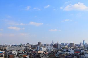 名古屋市街と名古屋城の写真素材 [FYI02077963]