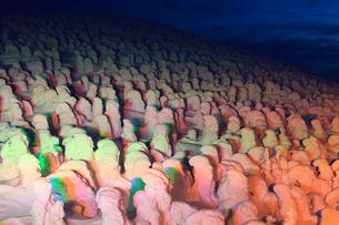 蔵王の樹氷ライトアップの写真素材 [FYI02078399]