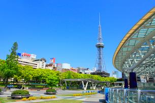 オアシス21と名古屋テレビ塔の写真素材 [FYI02079078]