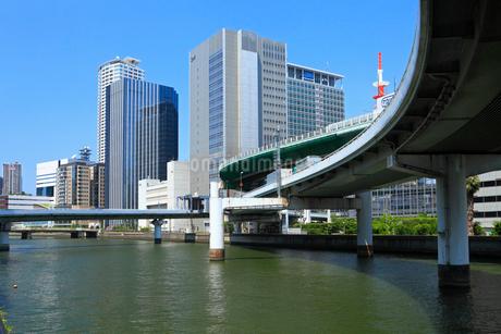 阪神高速道と堂島川の写真素材 [FYI02080071]