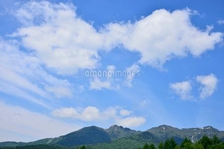 武尊山と青空の写真素材 [FYI02080420]