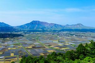 城山展望所より望む阿蘇山の写真素材 [FYI02080446]