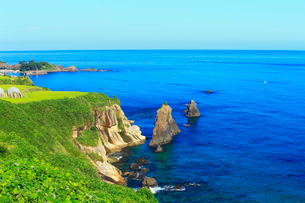 丹後半島 屏風岩の写真素材 [FYI02080459]