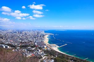 須磨鉢伏山から一の谷と神戸市街を望むの写真素材 [FYI02080958]