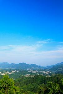 国見ヶ丘より望む高千穂盆地の写真素材 [FYI02080993]