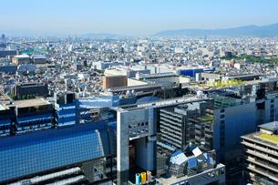 京都駅と京都市街の写真素材 [FYI02081048]