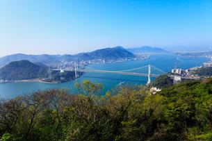 火の玉公園から望む関門橋の写真素材 [FYI02081098]
