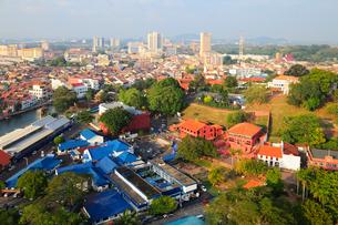 マラッカ・タワーから望むマラッカ市街の写真素材 [FYI02081750]